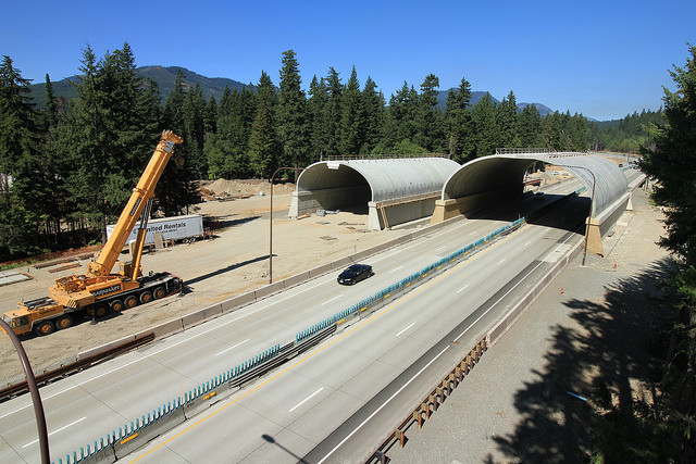 Second arch now erected for the I-90 wildlife overcrossing